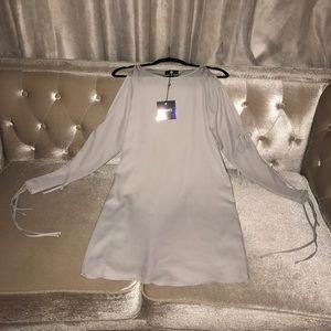 Dress w/ cutout sleeves